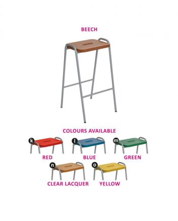 Beech and Mdf Flat Top Stools