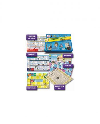 6 Reading Comprehension Board Games Level 2