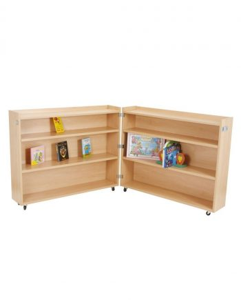 Mobile Double Leaf Bookcase Unit
