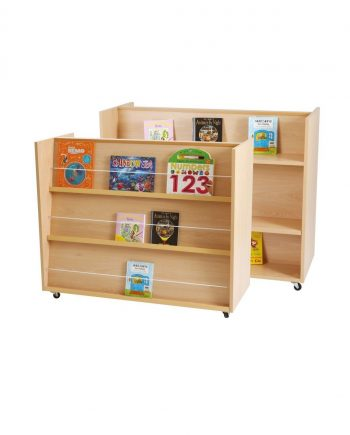 Mobile Double Sided Display/Bookshelf Unit