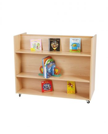 Mobile Double Sided Bookshelf Unit