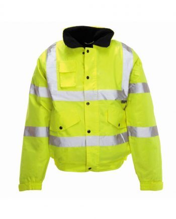 Hi Vis Storm Bomber Jacket Yellow
