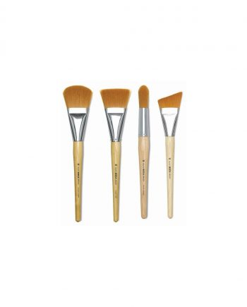 Flagged Golden Nylon Brushes Round