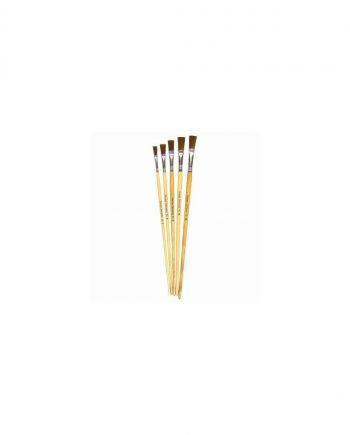 Flagged Golden Nylon Brushes Flat