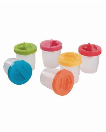 Non-spill paint pots