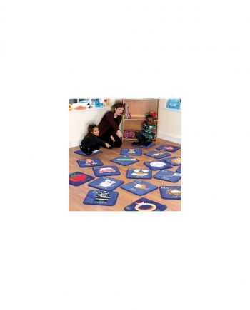 Alphabet mini placement carpets with free holdall