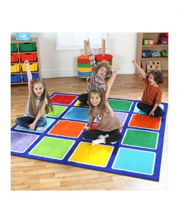 Rainbow Square Placement Carpets