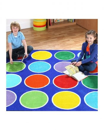 Rainbow Round Placement Carpets