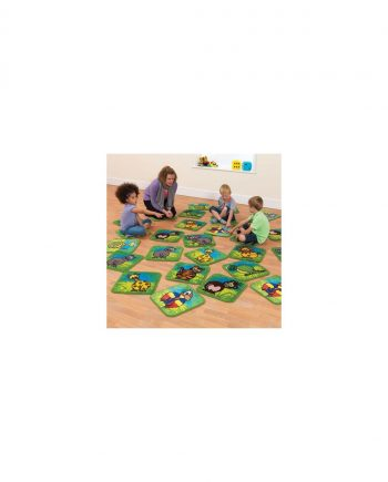 Town and country zoo animals mini placement carpets
