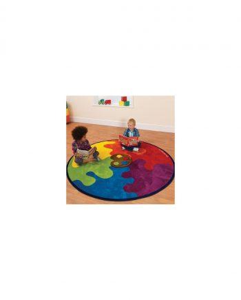Decorative colour palette carpet