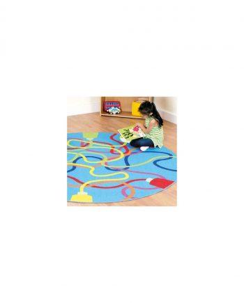 Decorative colour tubes carpet