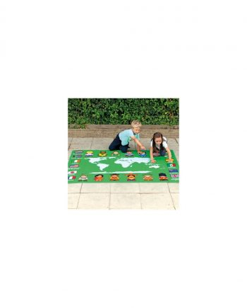 Children of the world map outdoor play mat