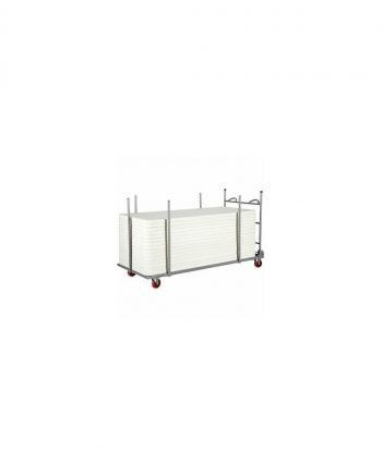 Large Rectangular Folding Table Trolley