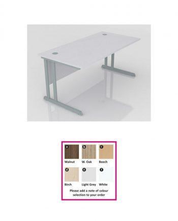 Cantilever Straight Desk