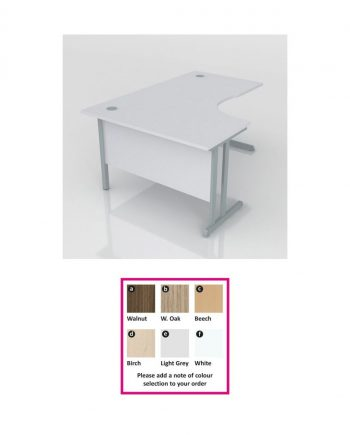 Cantilever Radial Desk