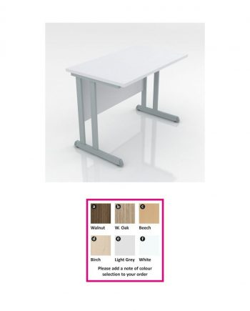 Cantilever Straight Desk Extension