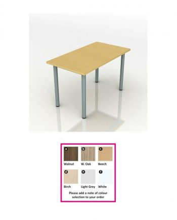 Modular Rectangular Meeting Table- Pole Leg