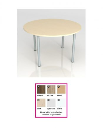 Circular Meeting Table- Pole Leg
