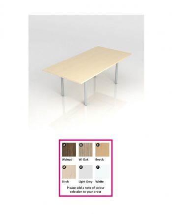 Rectangular Meeting Table- Pole Leg