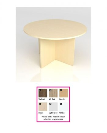 Circular Meeting Table- Panel Legs
