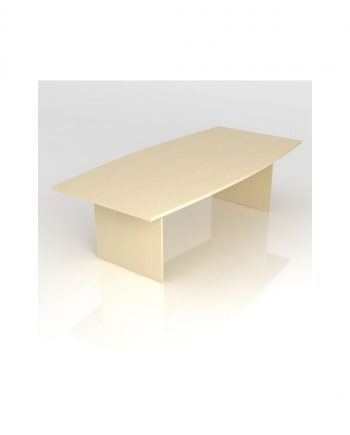 Barrel Shaped Meeting Table- Panel Legs