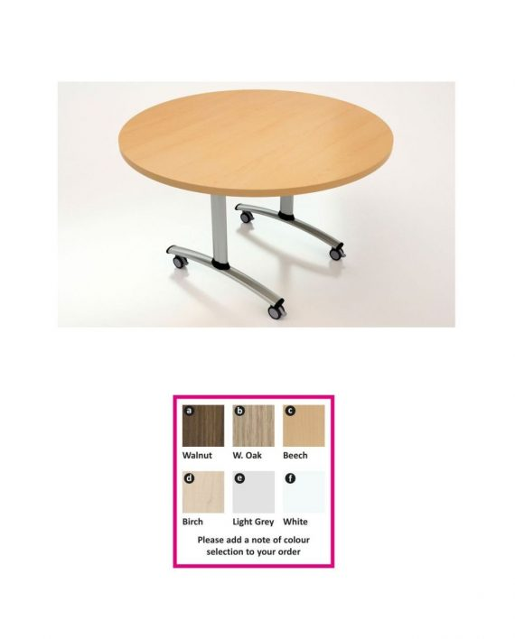 Circular Flip Top Table