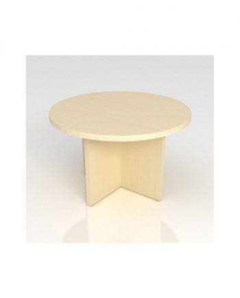 Circular Coffee Table- Panel Legs