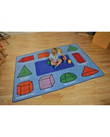 3d geometric shapes rug