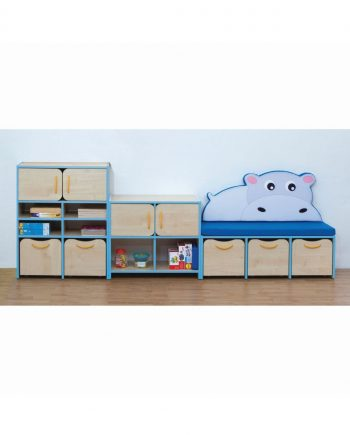 Nature storage set blue hippo