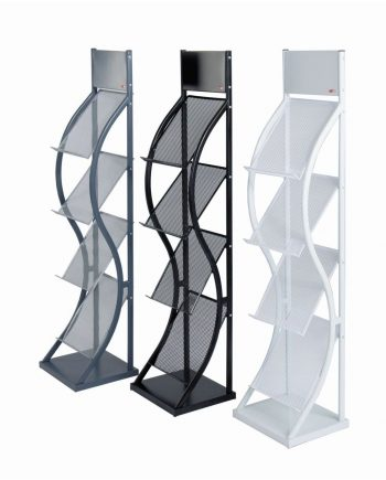 Wave Freestanding Literature Dispensers