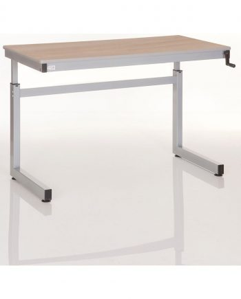 Cantilever height adjustable table