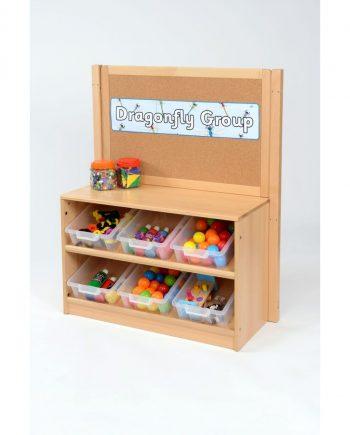 Corkboard with Tray Storage