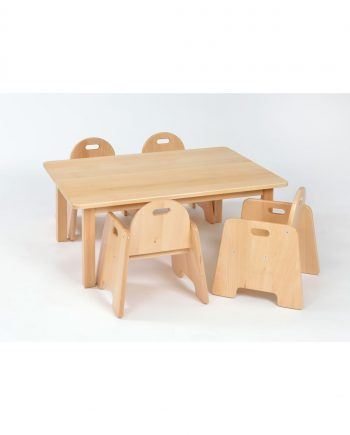 Rectangular table with infant chairs