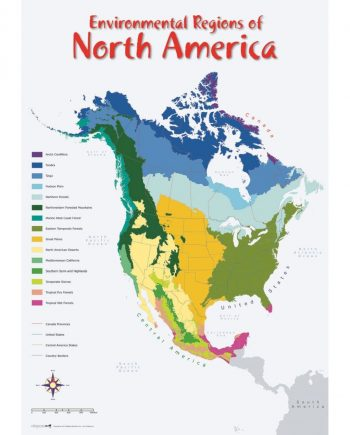 ENVIRONMENTAL REGIONS OF NORTH AMERICA MAP 1