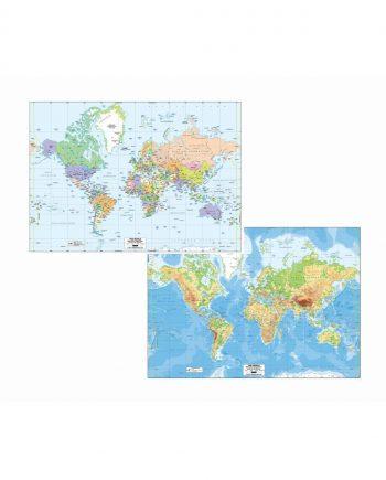 A1 LAMINATED WORLD MAPS