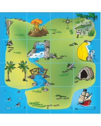 Bee-Bot Treasure Island Mat
