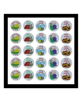 ASSORTED SPARKLING INSECT STICKERS 28MM 125