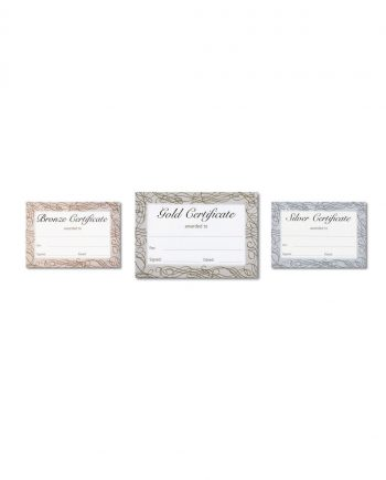 FOILED QUICK PACK CERTIFICATE BRONZE GOLD SILVER A5
