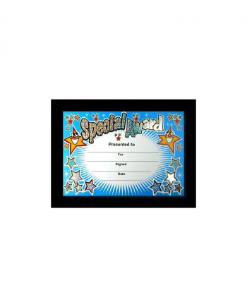 SPARKLING SPECIAL AWARD CERTIFICATE A5