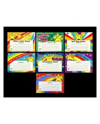 QUICK PACK OF ACHIEVEMENT AWARD CERTIFICATES