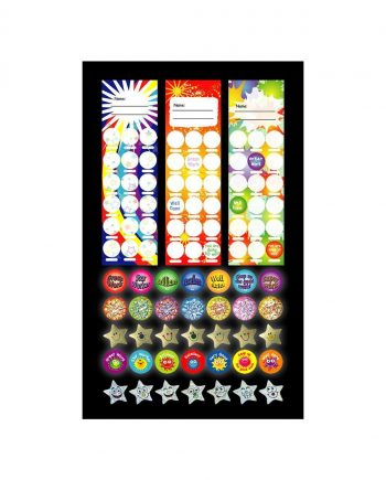 ASSORTED BOOKMARKS 30 WITH 19MM STICKERS