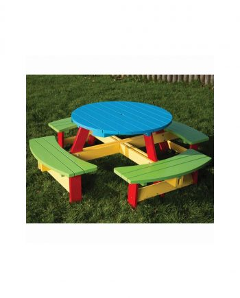 PAINTED ROUND PICNIC TABLE
