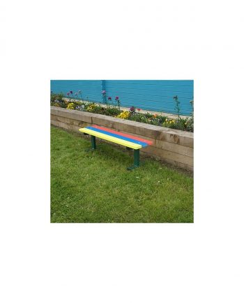 Rainbow Recycled Plastic Bench