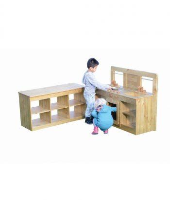Outdoor Kitchen & Bench Set