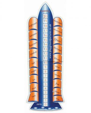 0-20 Rocket Number Line
