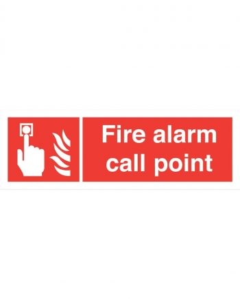 FIRE ALARM CAL POINT SIGN