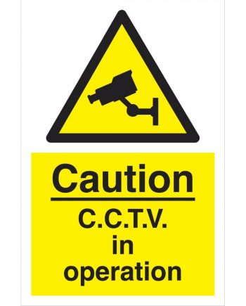 CAUTION C.C.T.V IN OPERATION