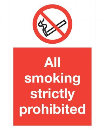 ALL SMOKING STRICTLY PROHIBITED