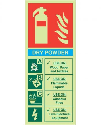 DRY POWDER FIRE EXTINGUISHER PHOTOLUMINESCENT