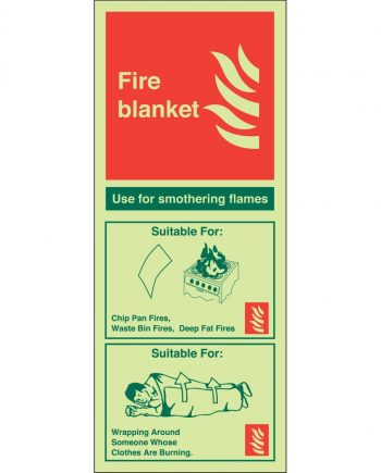 FIRE BLANKET PHOTOLUMINESCENT